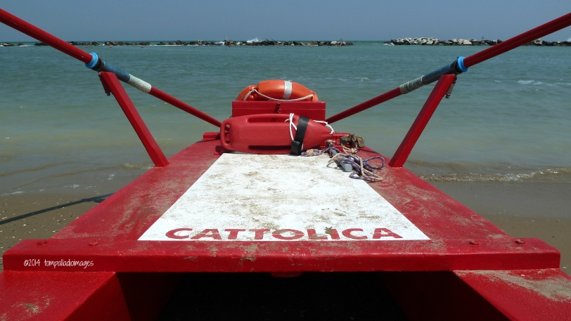 Lifeguard boat in Cattolica
