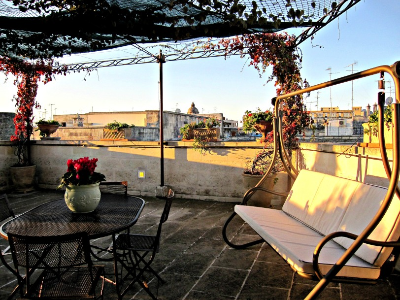 My terrace in Lecce, Puglia