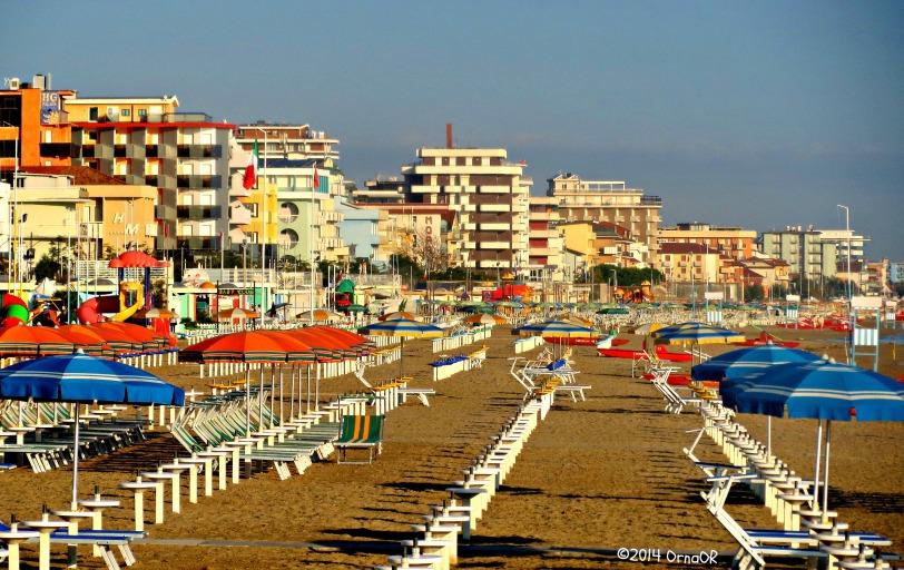 Beach at Igea Marina, Rimini