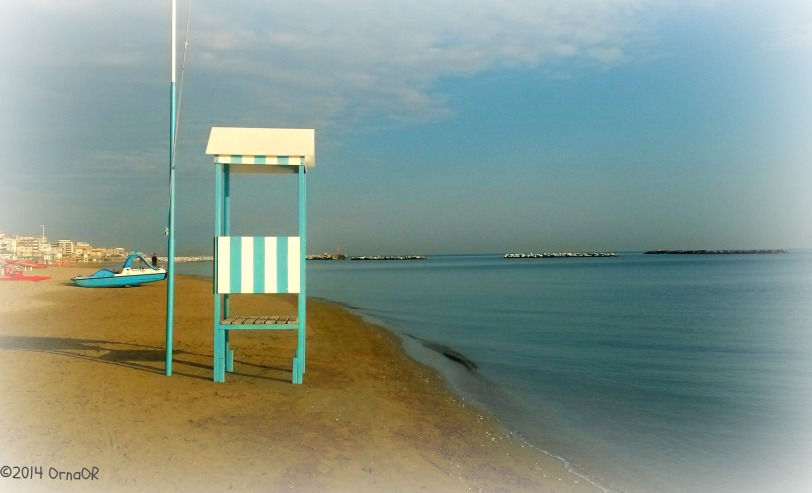 Quiet sands of Bellaria