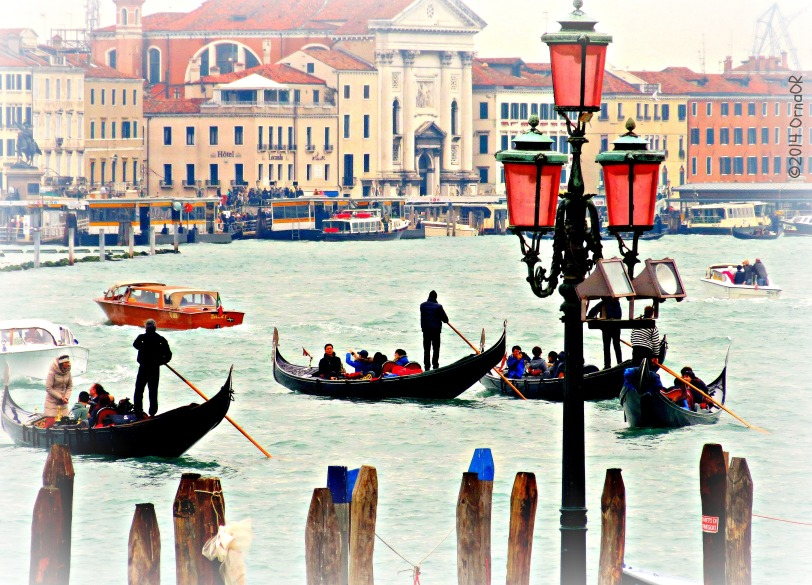Busy Grand Canal - taken from Santa Maria della Salute