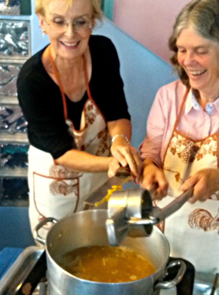 Making passatelli with a fellow blogger