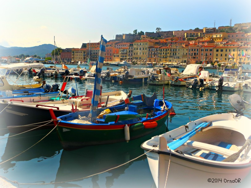 The old port at Portoferraio, Elba