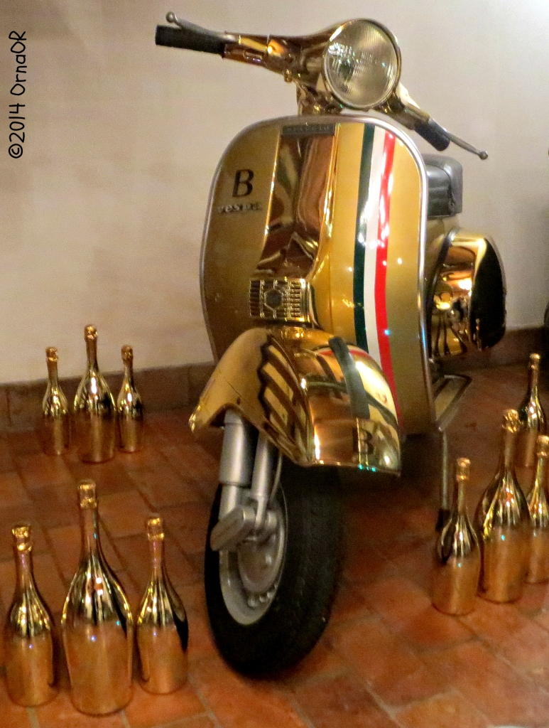 In the foyer: Bottega Gold Vespa