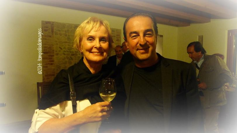 Me with Sandro Bottega at La Vendemmia 2014 Photo courtesy tompalladioimages www.thepalladiantraveler.com