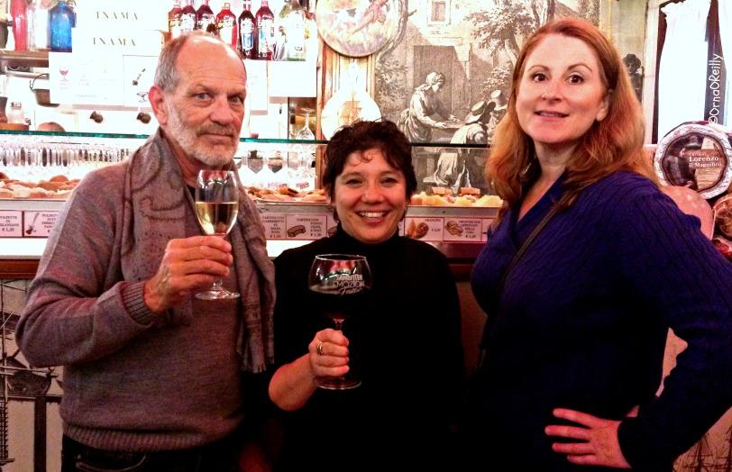 Tom Weber; Monica Cesarato; Kathy Ayers: cheers!