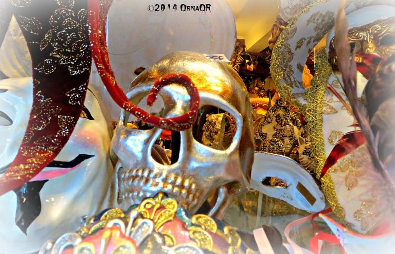 Scary Venetian masks for Carnivale