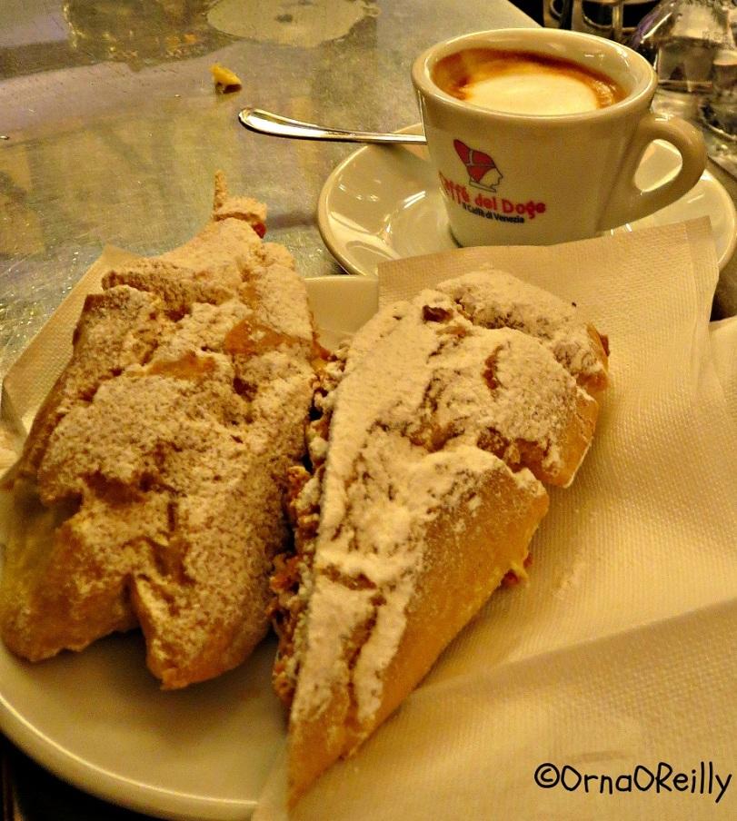 Fiamma Zabajon, pastry with coffee.