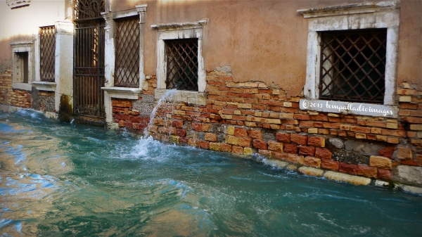 Water, water everywhere during Acqua Alta in Venice. Photo courtesy Tom Weber www.thepalladiantraveler.com