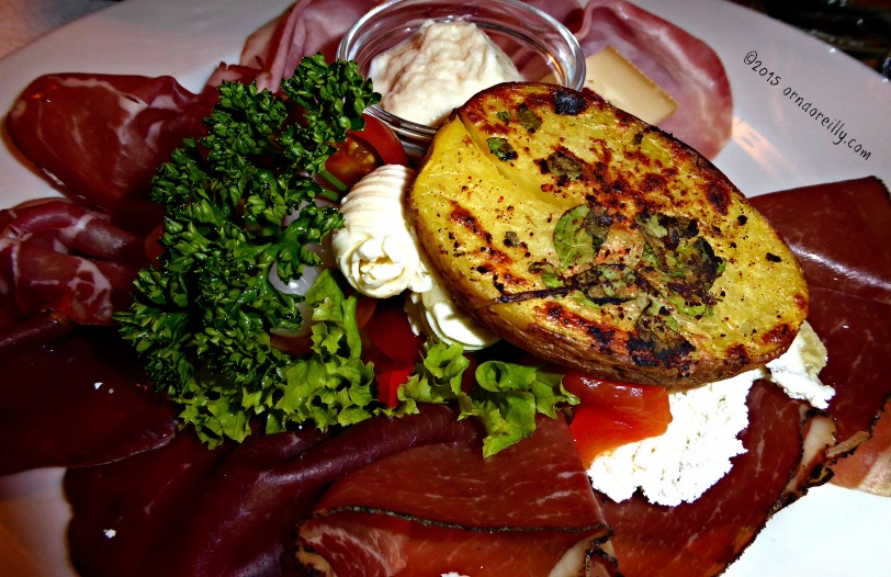 Bresaola and baked potato