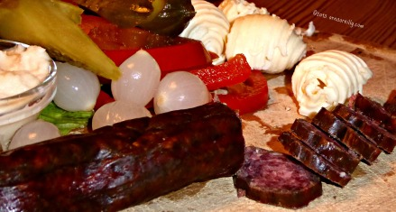Salami and pickles