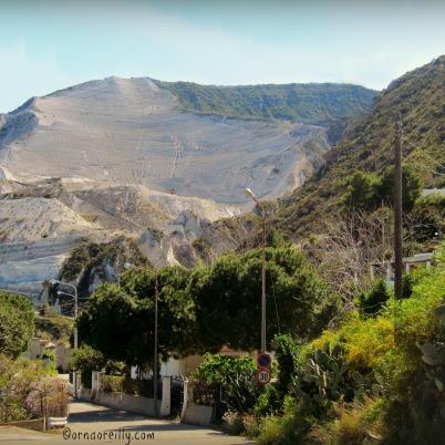 Pumice quarry on Lipari