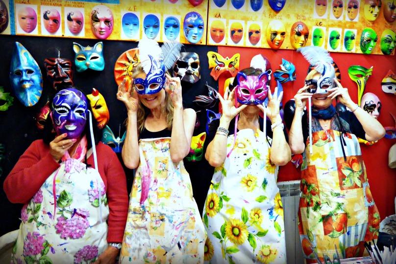 Ladies behind the masks