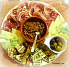 Lentils with antipasti