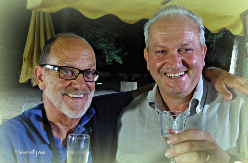 Tom Weber with Paolo Silveri, Mayor of Ferentillo