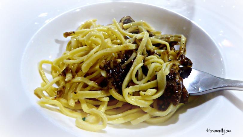 Picchietti with black truffles
