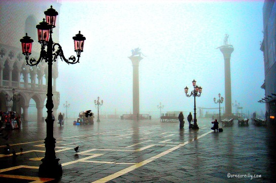 Piazza San Marco in winter fog