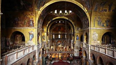 Interior of Basilica of San Marco
