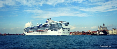 Cruise ship in the Guidecca Canal