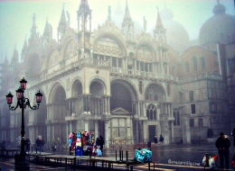 Basilica di San Marco in the fog