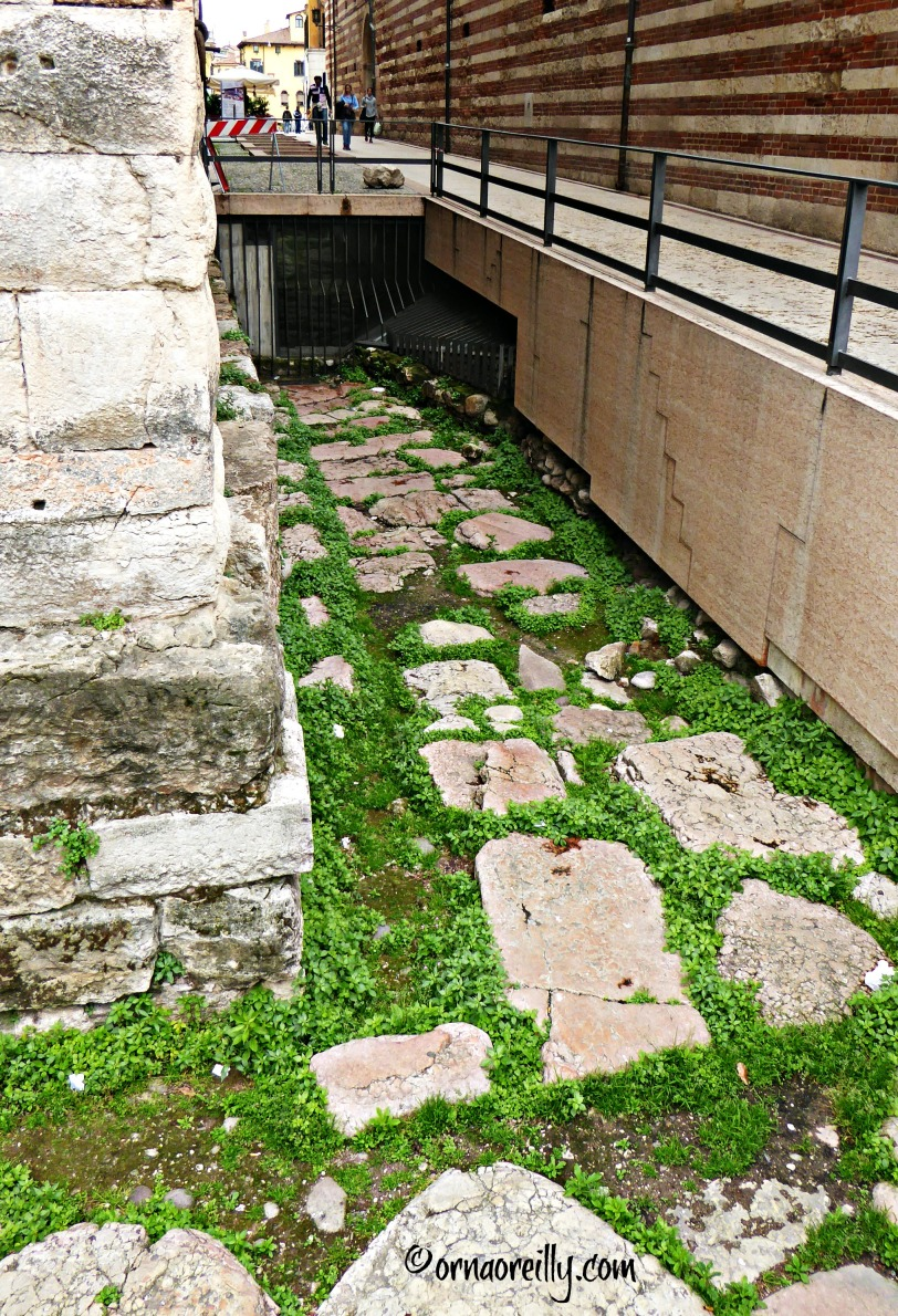 Remains of Roman street