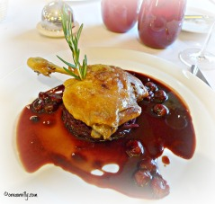 Duck confit with cherries