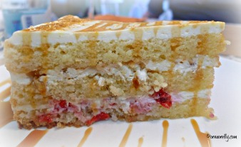 Banana and strawberry cake