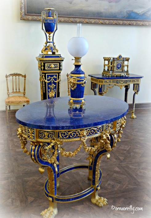 Lapis Lazuli table, Catherine Palace
