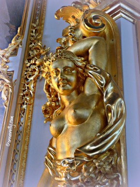 Detail in Great Hall, Catherine Palace