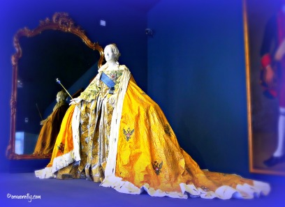 Replica ballgown of Empress Elizabeth