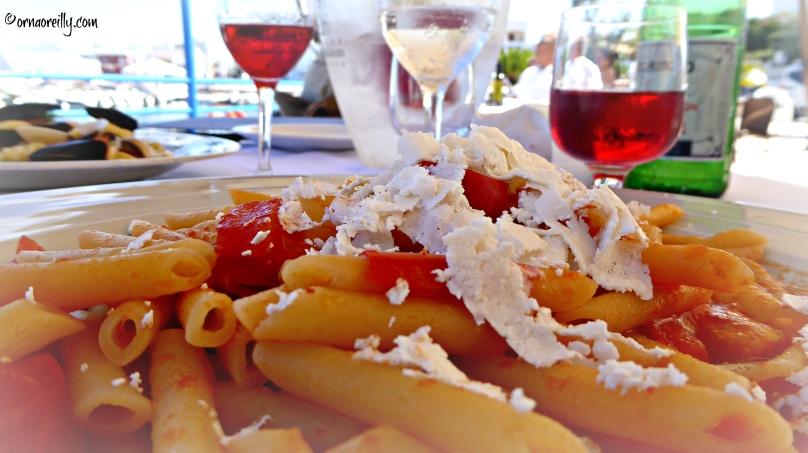 Rosato with pasta and ricotta