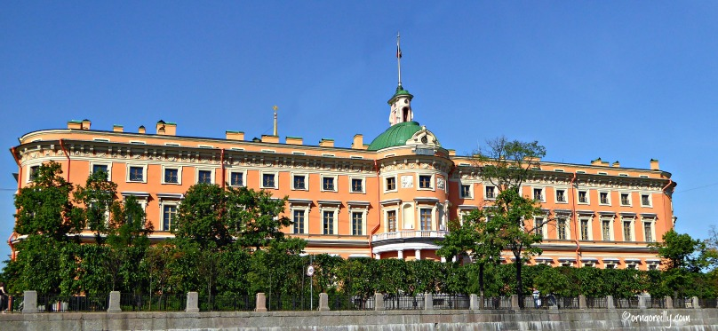 Emperor Paul I's Mikhailovskiy Castle from the Fontanka