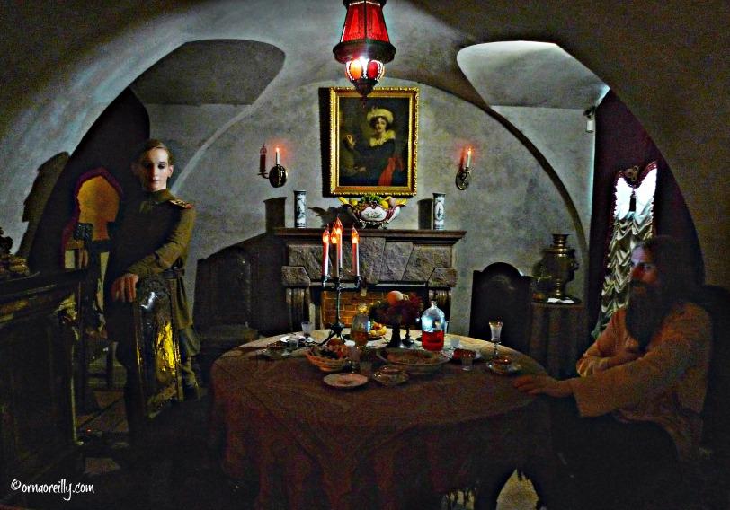 Wax figures of Count Yusupov and Rasputin