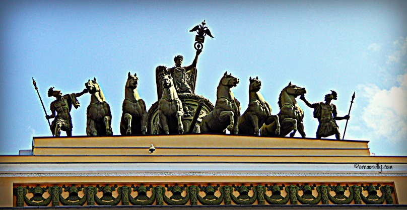 Triumphal Chariot on Triumphal Arch overlooking Winter Palace Square
