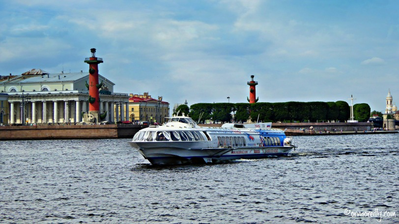 Hydrofoil in front of the Rostral Columns and Old Stock Exchange