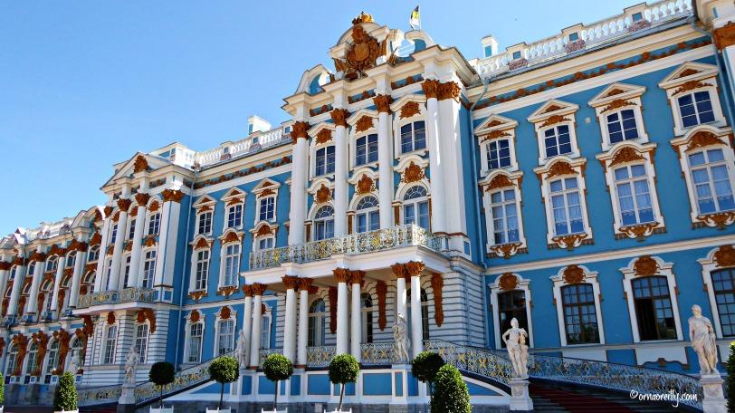 The Catherine Palace at Tsarskoye Selo