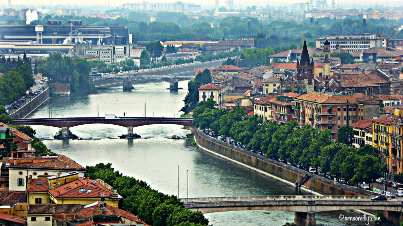 View of Verona from Piazzale Castel San Pietro