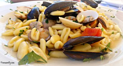 Cavatelli pasta with mussels and clams
