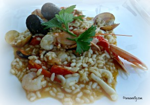 Risotto all pescatore from La Terrazza, Santa Sabina