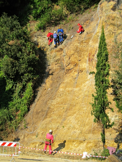 Landslide between Lerici and San Terenzo