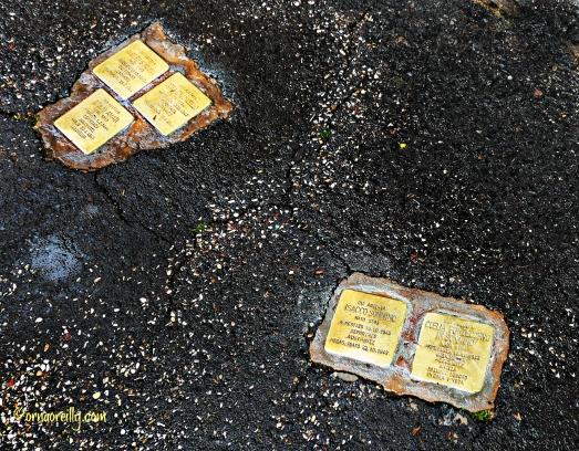 Brass pavement inserts