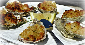 Gratinated oysters