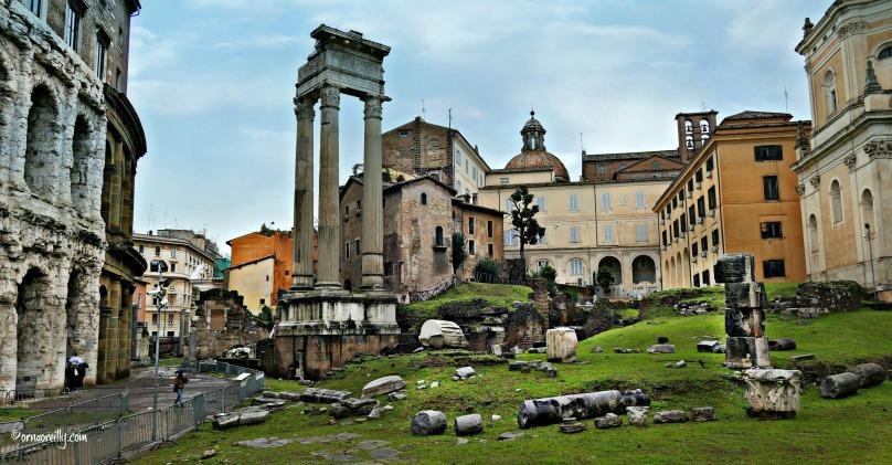 Teatro Marcellus and Temple of Apollo